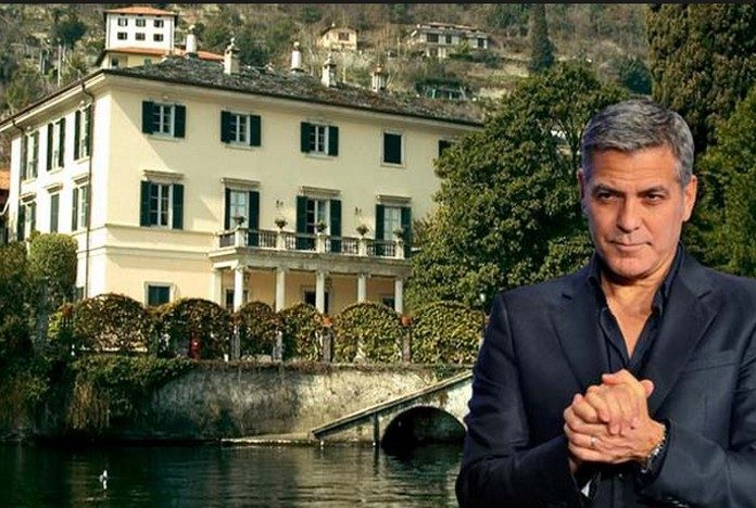 Since 2002 The Famous Hollywood Actor Owns A Beautiful House On Lake Como In Italy