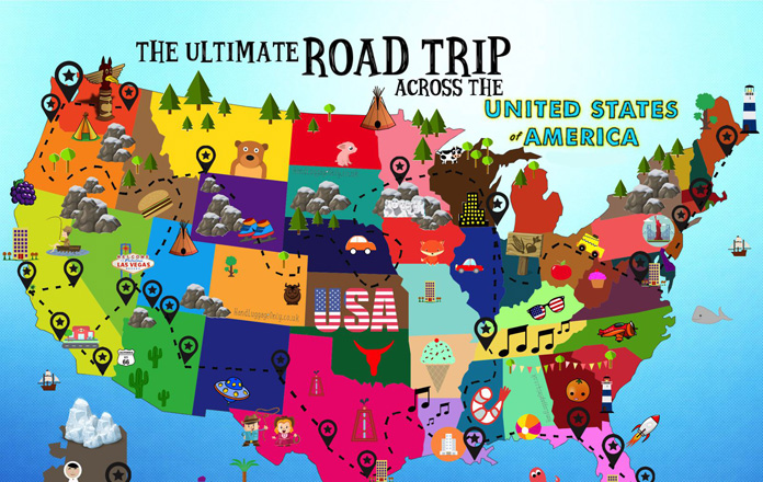 Top 10 amazing road trips across the usa for Best places to go for christmas in the usa