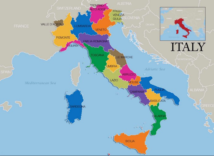 Map of italy with major cities places italy italia officially the italian republic located in the heart of the mediterranean sea altavistaventures Image collections