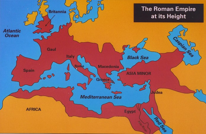 The ancient Roman Empire Map