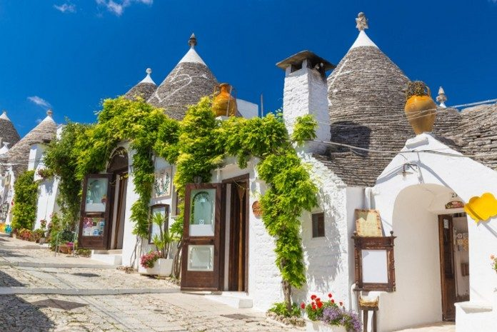 The Small Town Has Been Made A UNESCO World Heritage Site For Its Unusual Districts Of Trulli Characteristic White Washed Conical Roofed Houses