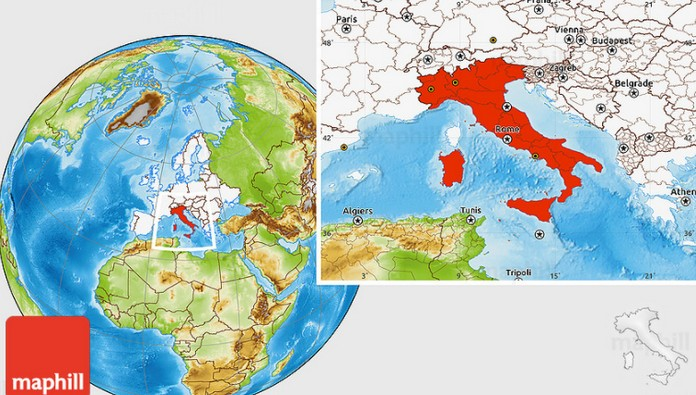 Where Is Italy Located On The Map? |