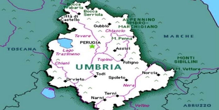 Map Of Umbria With Major Places Sights