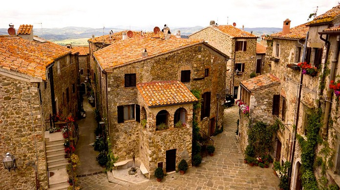 A Medieval village in Tuscany, Italy, goes up for Sale on
