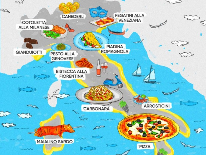 The Food Map Of Italy