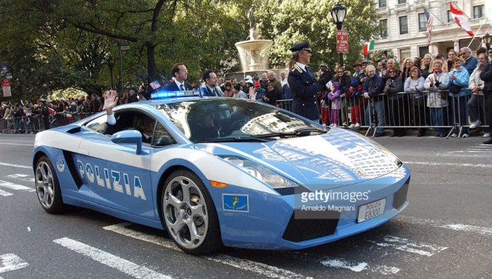 Italian Police Lamborghini In New York